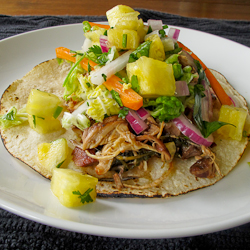 Slow Cooker Chicken Tacos & Pineapple Salsa – DailyWaffle