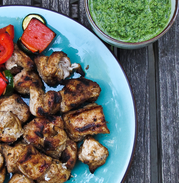 Chicken Tikka & Cilantro-Mint Chutney