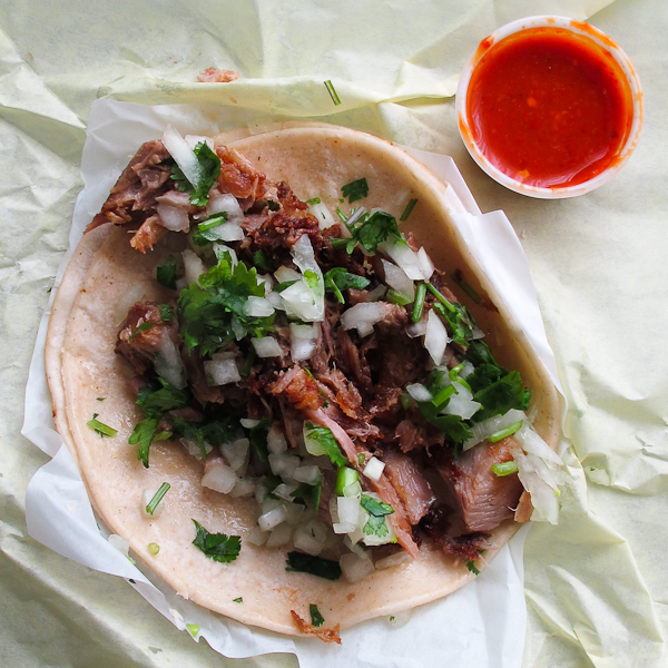 Carnitas taco from Taqueria El Rodeo - Portland