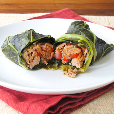 stuffed collards plated