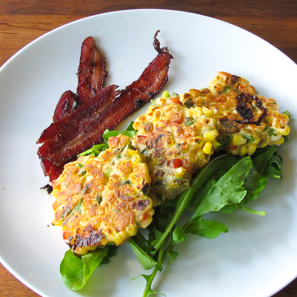 bills corn fritters kicked up with hatch chile