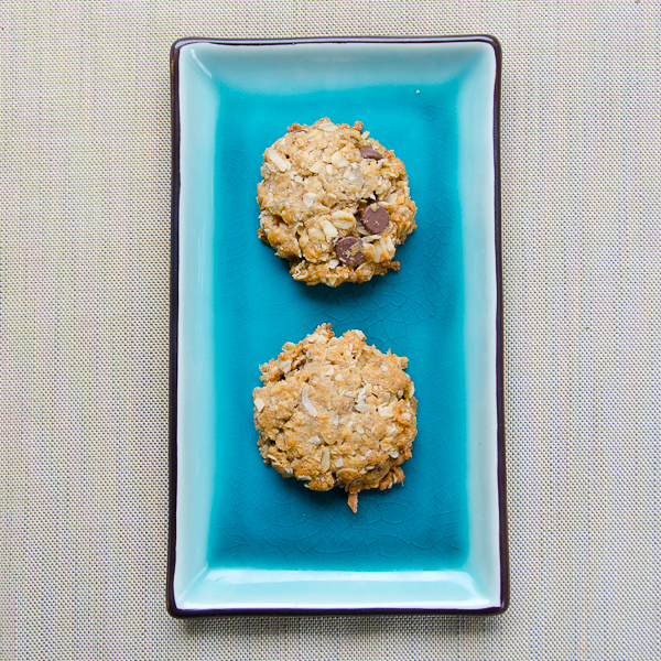 two anzac biscuit with ginger and choc chips