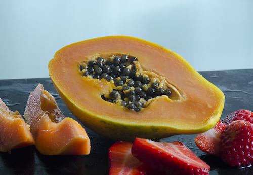 strawberry papayas from kauai