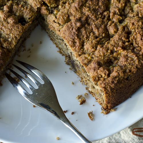 Banana Date Cake (Vegan) - DailyWaffle