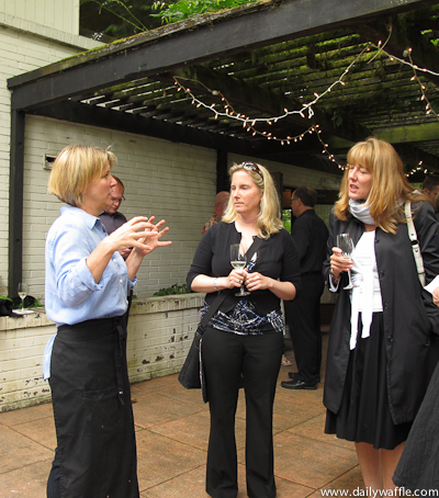 cafe juanita chef holly smith chats with guests