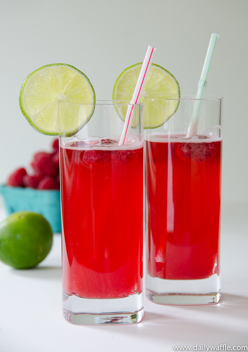 raspberry soda pair with lime