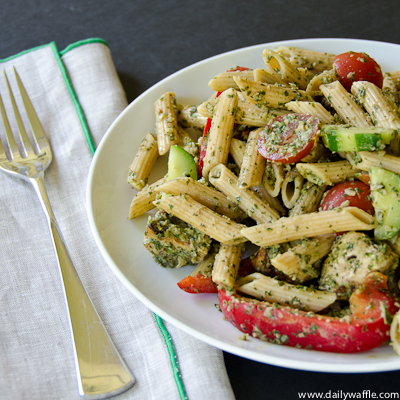 Chicken Tikka Pasta Salad – DailyWaffle