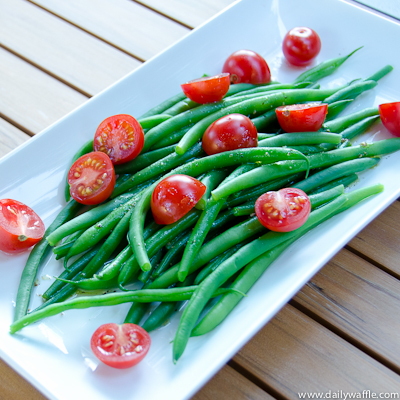 Summer Wind Down w/ a Green Bean & Cherry Tomato Salad – DailyWaffle