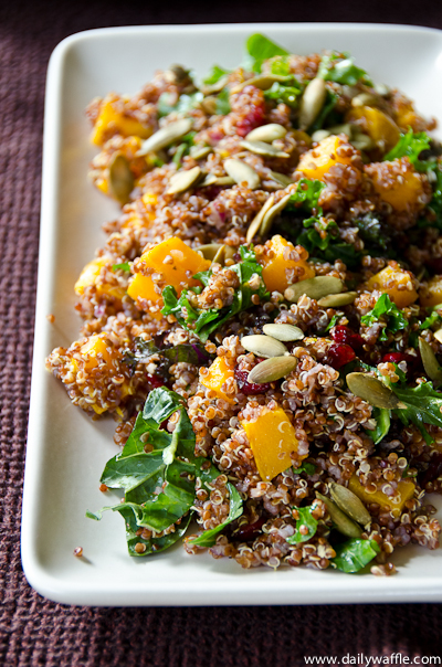 Quinoa Salad With Butternut Squash, Dried Cranberries & Pepitas ...