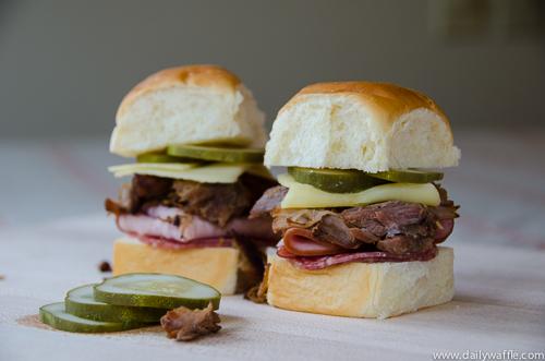 pulled pork cubano sandwich| dailywaffle