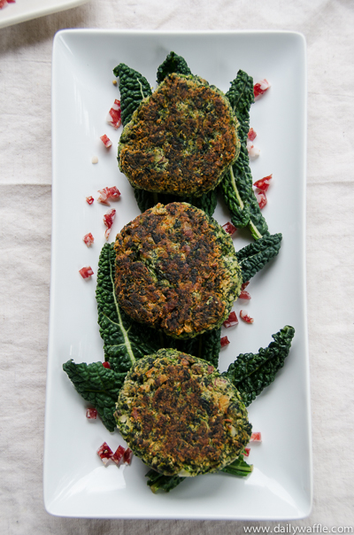 spinach and white bean patties | dailywaffle