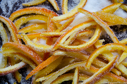 candied orange peel | dailywaffle
