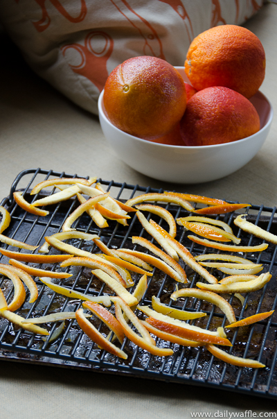 candied orange peel drying| dailywaffle