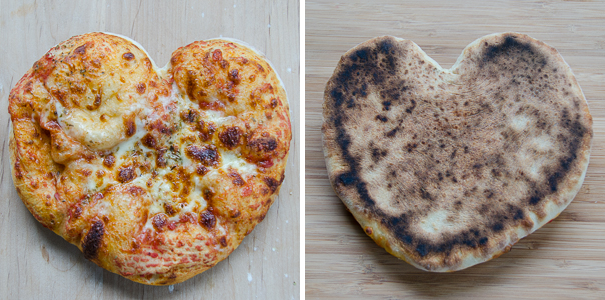 pizza heart front and back | dailywaffle