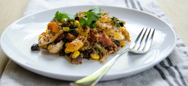 chicken quinoa black bean bake sticky|dailywaffle