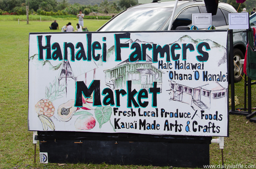 hanalei farmers market sign | dailywaffle