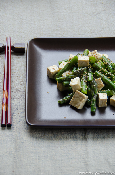 asparagus and tofu miso dressing| dailywaffle