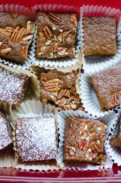molasses pecan snack cake