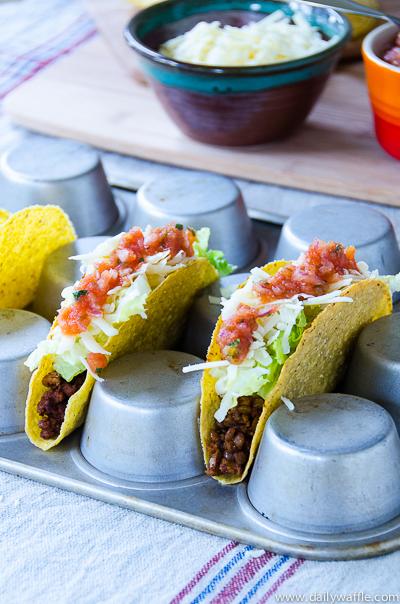 vegetarian crunchy taco 2| dailywaffle