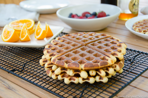 honey orange ginger waffle outside | dailywaffle