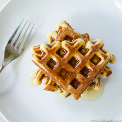 honey orange ginger waffle stack | dailywaffle