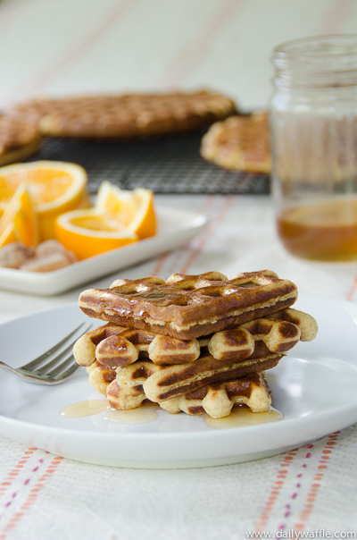 honey orange ginger waffles | dailywaffle