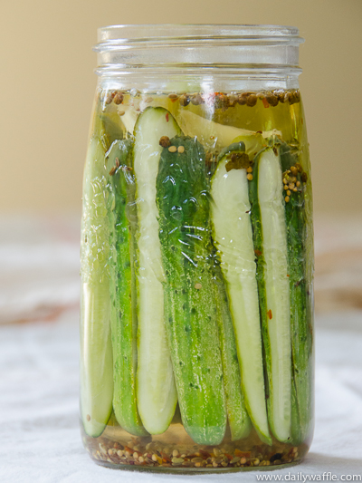 asian inspired pickles in a jar |dailywaffle