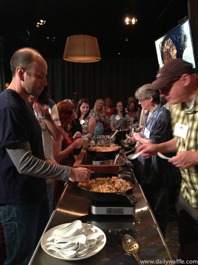 fried rice battle tasting tom douglas culinary camp |dailywaffle