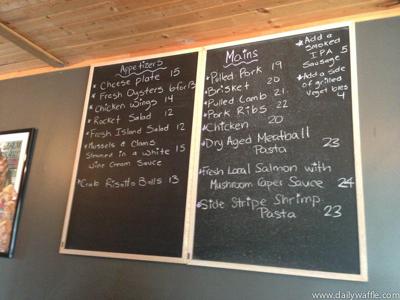 Hank's chalkboard menu| dailywaffle