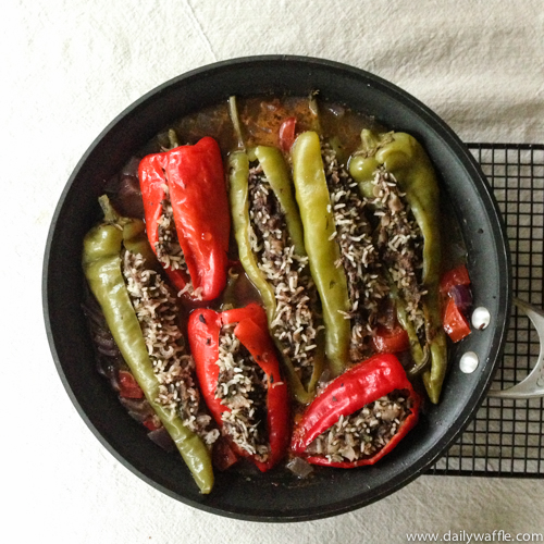 Jerusalem stuffed peppers after| dailywaffle