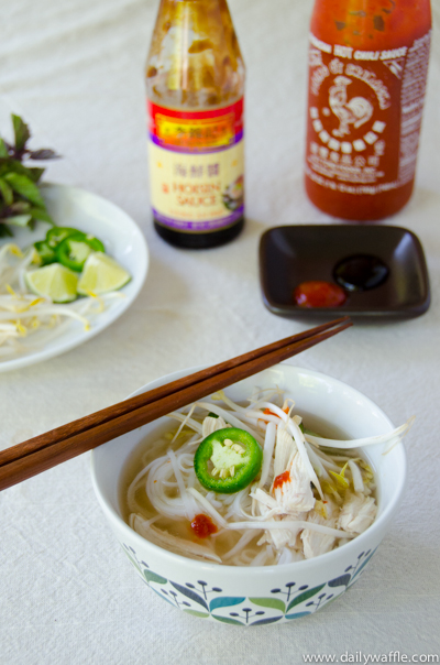 chicken pho ga with sriracha hoisin |dailywaffle