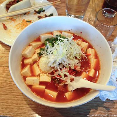 kimchi ramen with tofu uncle denver| dailywaffle