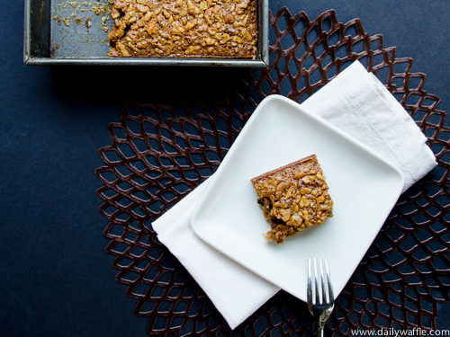 maple walnut square | dailywaffle