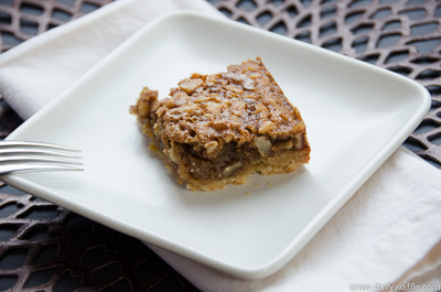 maple walnut square close up| dailywaffle
