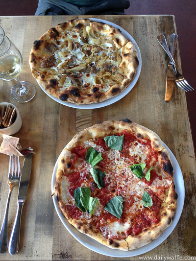 pizzeria bianco margherita and wiseguy| dailywaffle