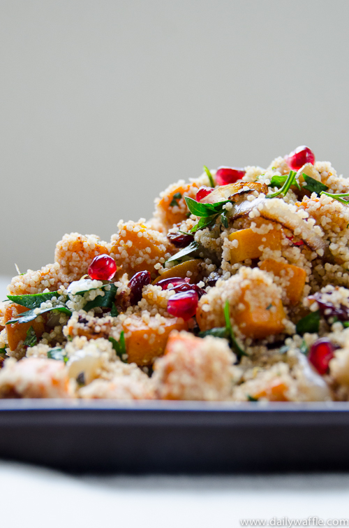 butternut couscous with cherries and pomegranate | dailywaffle