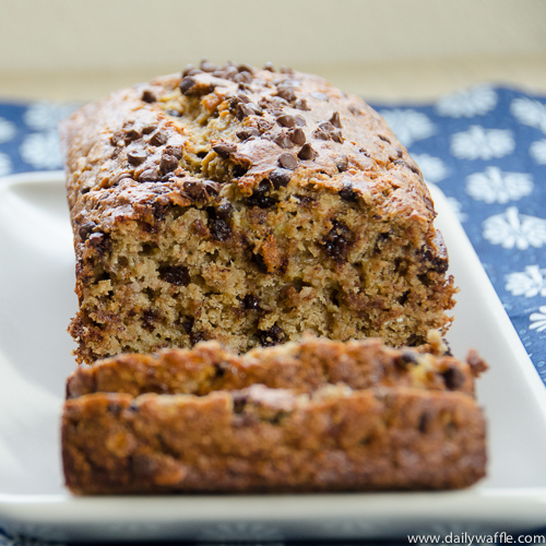 chocolate chip banana oat loaf | dailywaffle