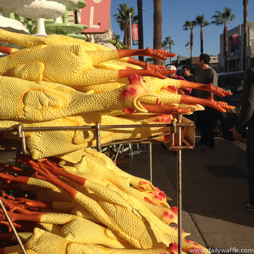 rubber chickens on abbot kinney| dailywaffle