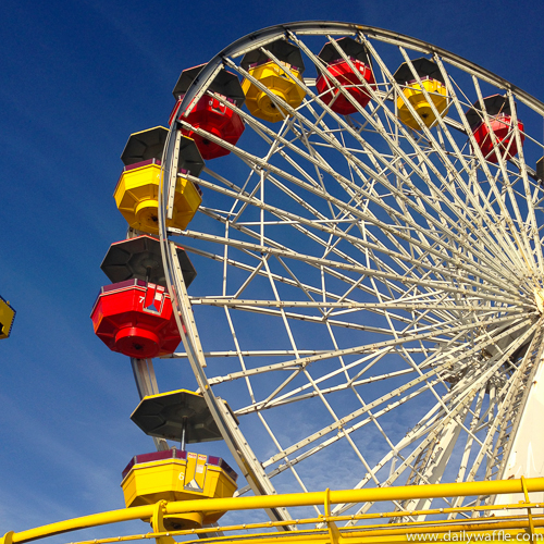 santa monica pier ferris wheel day | dailywaffle