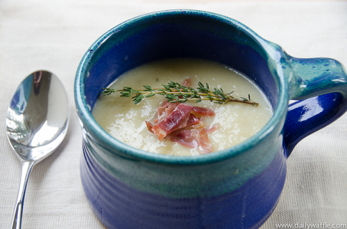 winter white cauliflower potato soup | dailywaffle