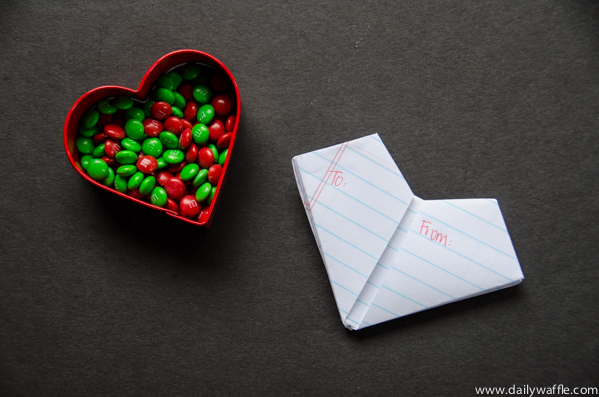 folded note heart | dailywaffle