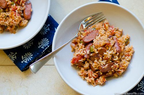 andouille sausage jambalaya | dailywaffle