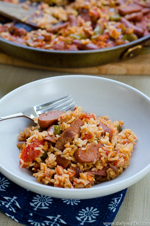 andouille sausage jambalaya|dailywaffle