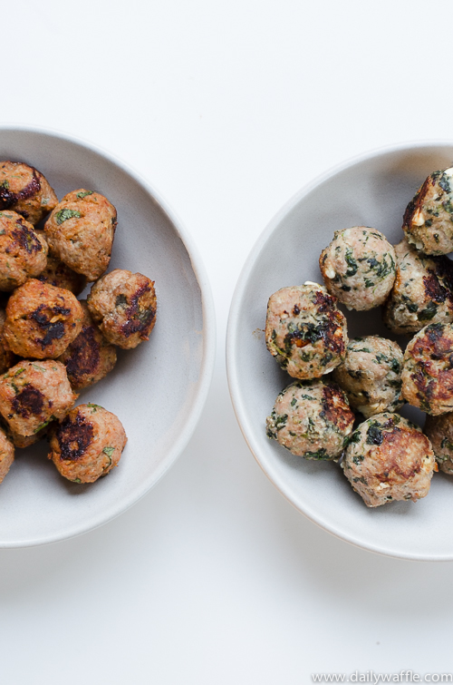 greek-inspired turkey meatballs
