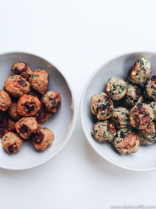 greek inspired spinach feta meatballs 2 |dailywaffle