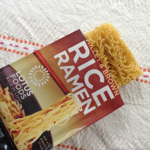 lotus foods rice ramen in package| dailywaffle
