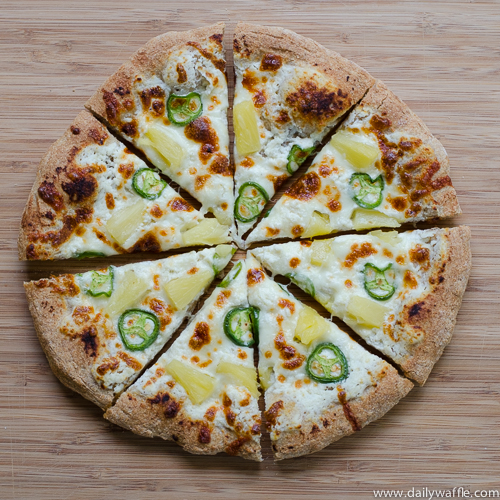 pineapple jalapeno pizza pineapeno |dailywaffle