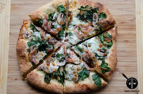 FridayNightSlice_Pancetta Chard Mushroom | dailywaffle