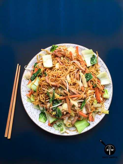 easy pork chow mein | dailywaffle