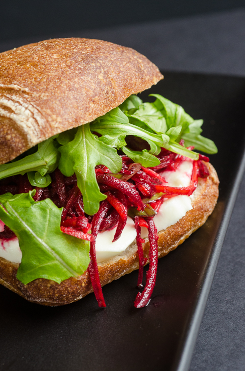 block rockin beet slaw mozzarella sandwich | dailywaffle